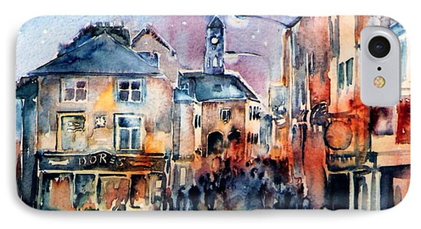 IPhone Case featuring the painting Nightfall. High St. Kilkenny City  Ireland  by Trudi Doyle