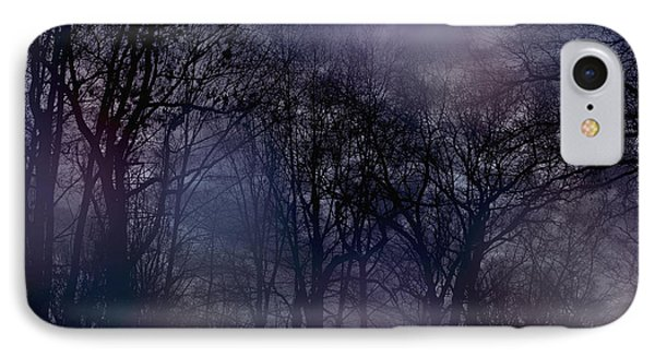 Nightfall In The Woods IPhone Case by Sandy Moulder