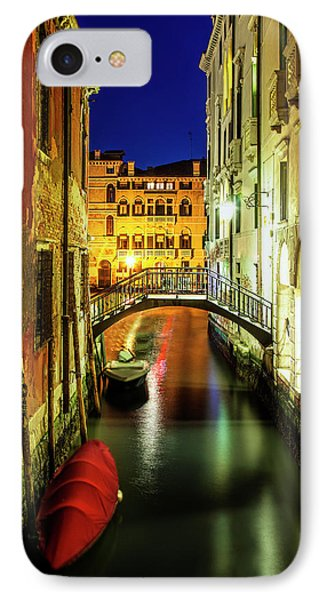 IPhone Case featuring the photograph Nightfall In Venice by Andrew Soundarajan