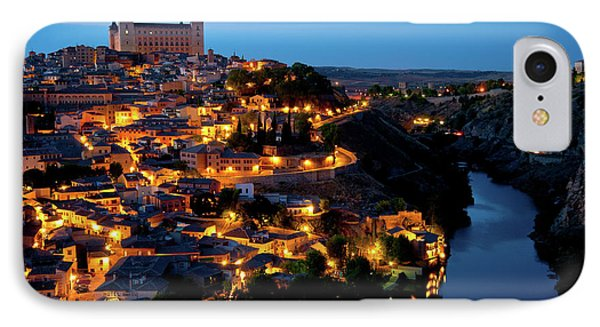 IPhone Case featuring the photograph Nightfall Over Toledo by Harry Spitz