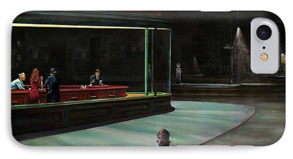 Nighthawks Phone Case by Antonio Ortiz
