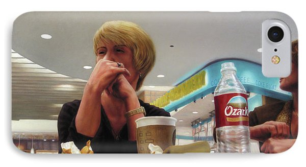 Nighthawks At The Foodcourt Phone Case by James W Johnson