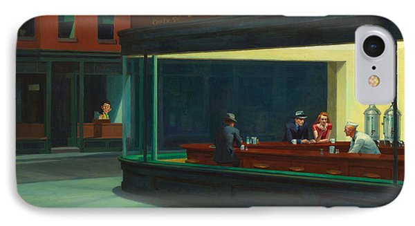 Nighthawks Plus Alfred IPhone Case by Garland Johnson