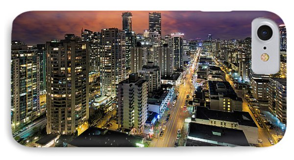 Nightlife On Robson Street Phone Case by David Gn