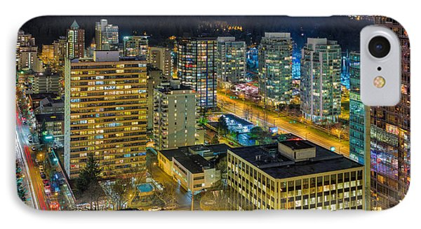 Nightlife On The Other End Of Robson Street Phone Case by David Gn