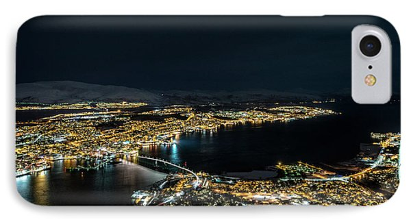 Nightscape Of Tromso IPhone Case by Travel Quest Photography
