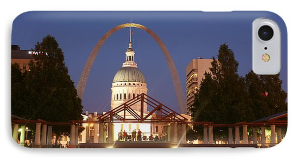 Nighttime At The Arch Phone Case by Marty Koch