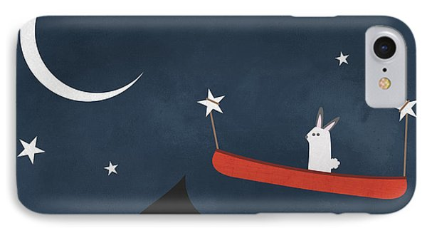 Nighttime Canoe Nursery Art IPhone Case