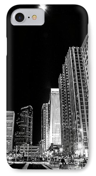 Nighttime Uptown Charlotte  IPhone Case by Robert Yaeger