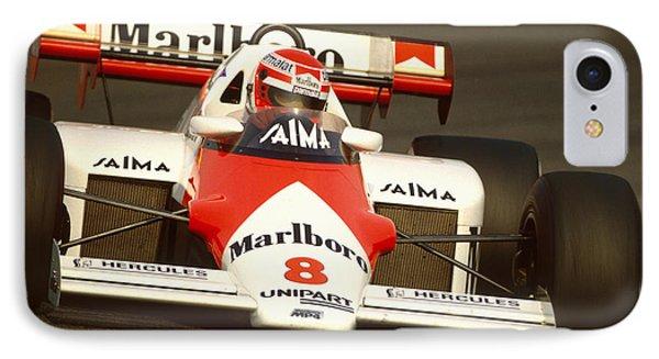 Niki Lauda. 1984 Dutch Grand Prix IPhone Case by Oleg Konin