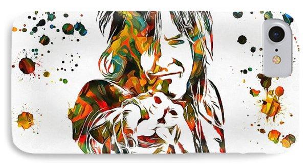 Nikki Sixx Paint Splatter IPhone Case by Dan Sproul