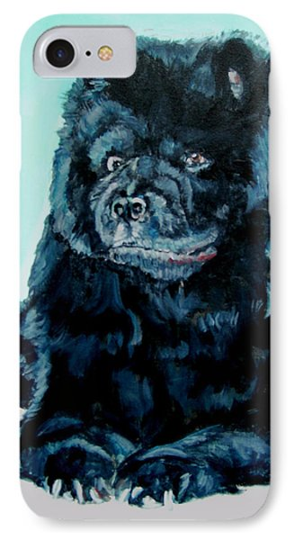 IPhone Case featuring the painting Nikki The Chow by Bryan Bustard