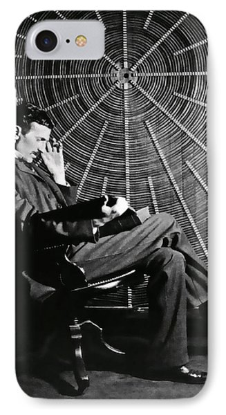 Nikola Tesla And Machine IPhone Case