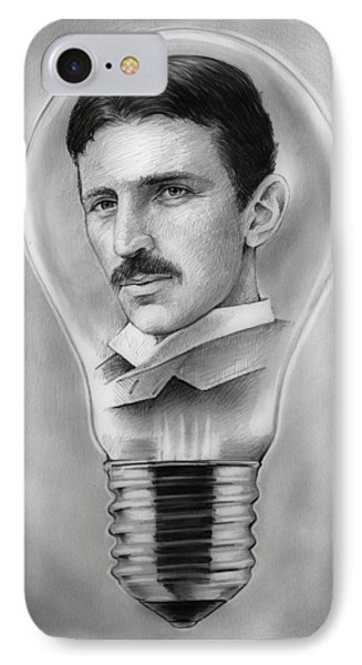 Nikola Tesla IPhone Case by Greg Joens