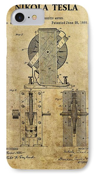 Nikola Tesla's Electro Magnetic Motor IPhone Case by Dan Sproul