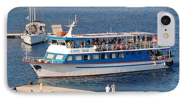 Nikos Express Ferry At Halki IPhone Case
