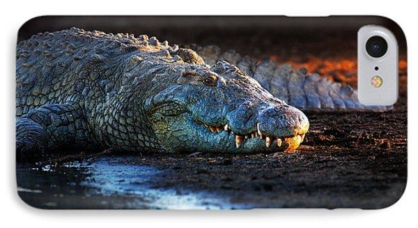 Nile Crocodile On Riverbank-1 IPhone 7 Case