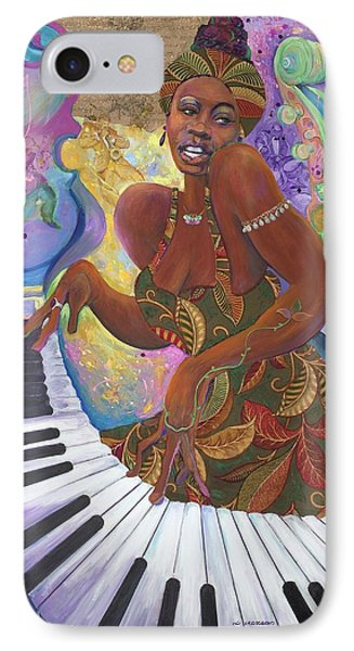 Nina Simone IPhone Case by Lee Ransaw