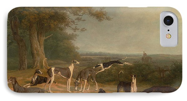Nine Greyhounds In A Landscape IPhone Case by MotionAge Designs