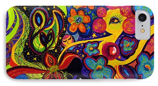 IPhone Case featuring the painting Joyful by Marina Petro