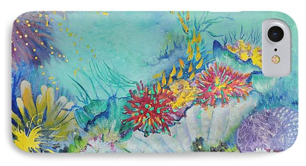 IPhone Case featuring the painting Ningaloo Reef by Lyn Olsen