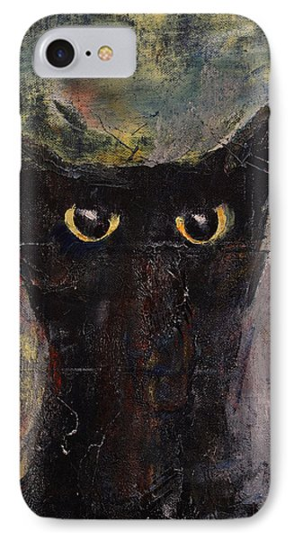 Ninja Cat IPhone Case by Michael Creese