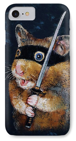 Ninja Hamster IPhone Case by Michael Creese