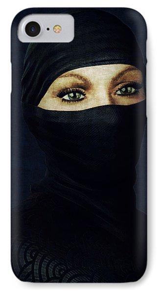 Ninja Portrait IPhone Case by Maynard Ellis