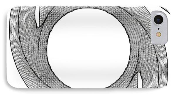 Ninja Stars Shuriken 3d Geometric Twisted Shape IPhone Case by Nenad Cerovic