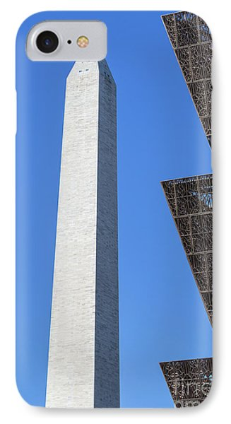 Nmaahc And Washington Monument I IPhone Case by Clarence Holmes