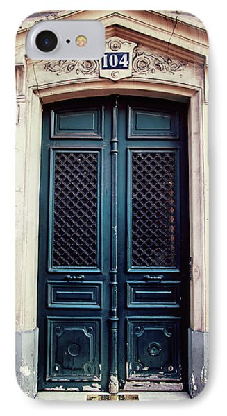 IPhone Case featuring the photograph No. 104 - Paris Doors by Melanie Alexandra Price