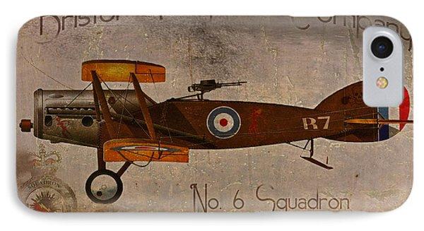 No. 6 Squadron Bristol Aeroplane Company IPhone Case by Cinema Photography