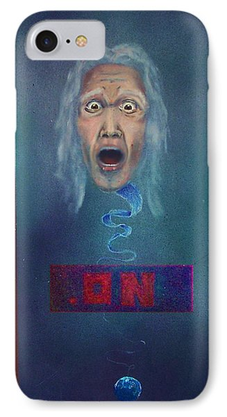IPhone Case featuring the painting No Entry Into Heaven by Albert Puskaric