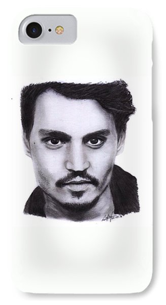 iPhone 7 Case - Johnny Depp Drawing By Sofia Furniel by Jul V
