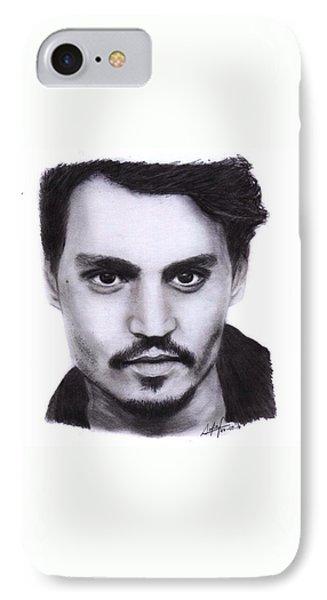 Johnny Depp Drawing By Sofia Furniel IPhone Case