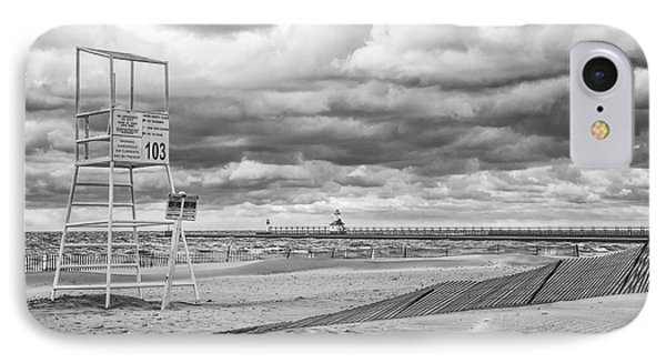 No Lifeguard On Duty IPhone Case by John Crothers