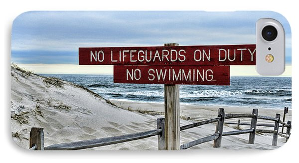 No Lifeguards On Duty IPhone Case by Paul Ward