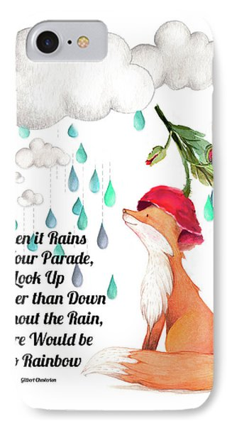 IPhone Case featuring the digital art No Rain On My Parade by Colleen Taylor