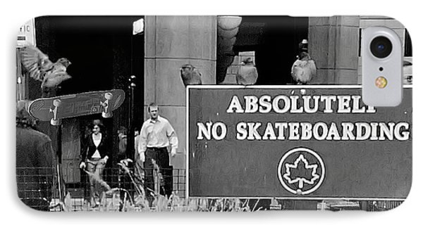 No Skateboarding Phone Case by Brian Wallace