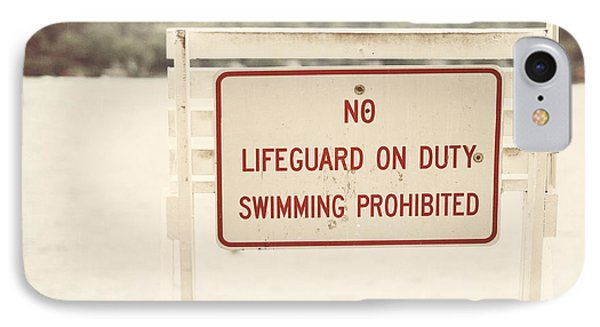 No Swimming Phone Case by Lisa Russo