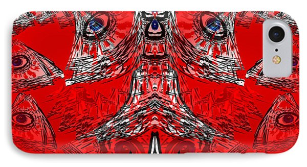 No World Order IPhone Case by Abstract Angel Artist Stephen K