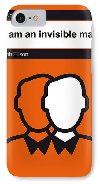 No010-my-invisible Man-book-icon-poster IPhone Case by Chungkong Art