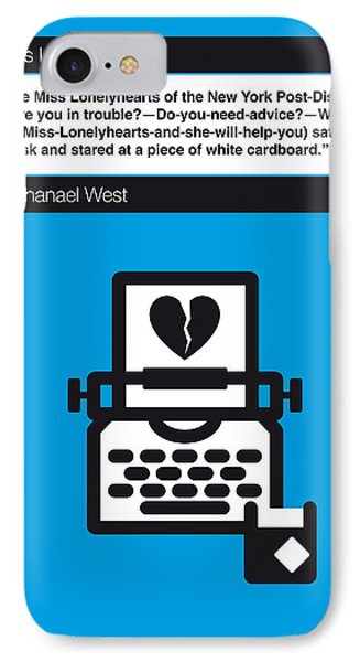 No011-my-miss Lonelyhearts-book-icon-poster IPhone Case by Chungkong Art
