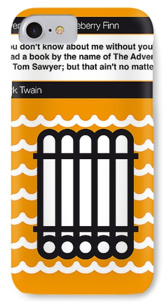 No012-my-huckleberry Finn-book-icon-poster IPhone Case by Chungkong Art