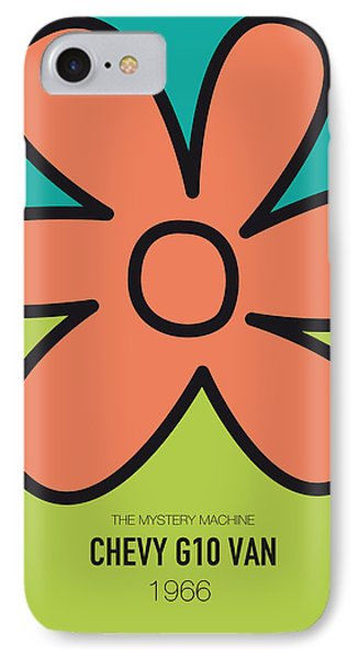 No020 My Scooby Doo Minimal Movie Car Poster IPhone Case by Chungkong Art