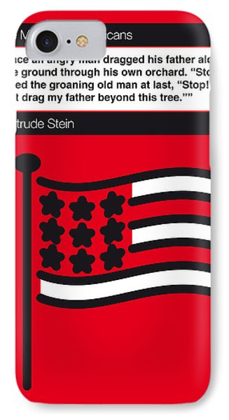 No033-my-the Making Of Americans-book-icon-poster IPhone Case by Chungkong Art