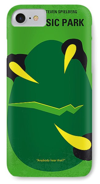 Dinosaur iPhone 7 Case - No047 My Jurassic Park Minimal Movie Poster by Chungkong Art