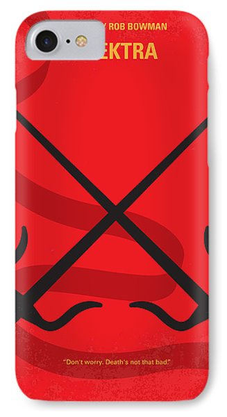 No060 My Electra Minimal Movie Poster IPhone Case by Chungkong Art