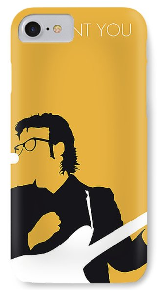No067 My Elvis Costello Minimal Music Poster IPhone Case by Chungkong Art