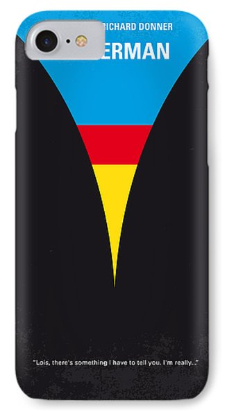 No086 My Superman Minimal Movie Poster IPhone Case by Chungkong Art